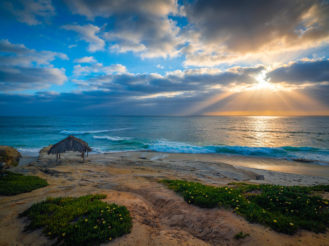 Windandsea Beach San Diego Sunset Brilliant Clouds Dramatic Skies Landscape Photography! Elliot McGucken Fuji GFX 100 Fine Art Landscape Nature Photography Ocean Art Seascape Medium Format Fujifilm GFX100 & FUJIFILM GF 23mm f/4 R LM WR Lens Wide Angle!