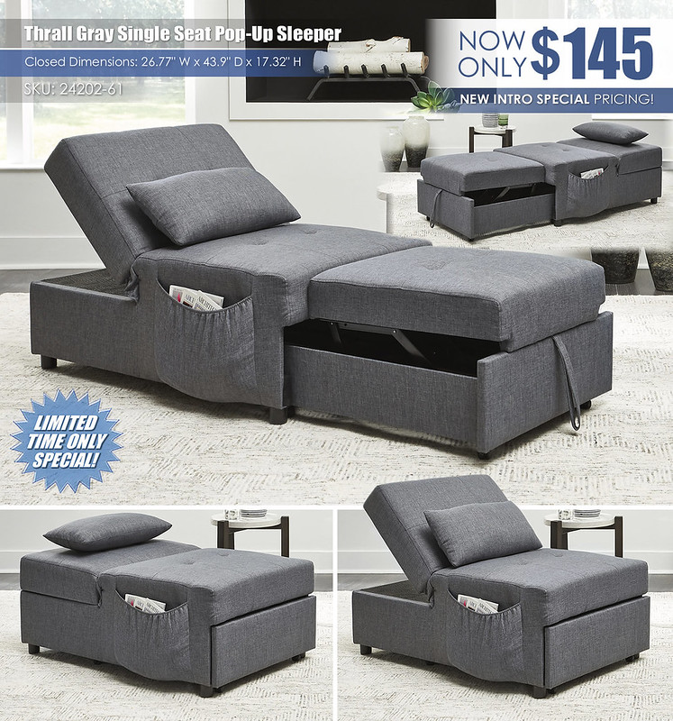 Thrall Single Seat Pop Up Sleeper_24202-61