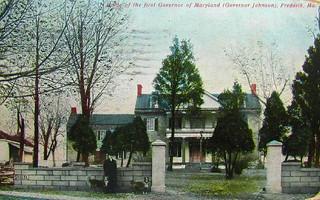 Home of Thomas Johnson, First Governor of Maryland, Postcard, Circa 1915