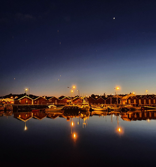 harbour reflected