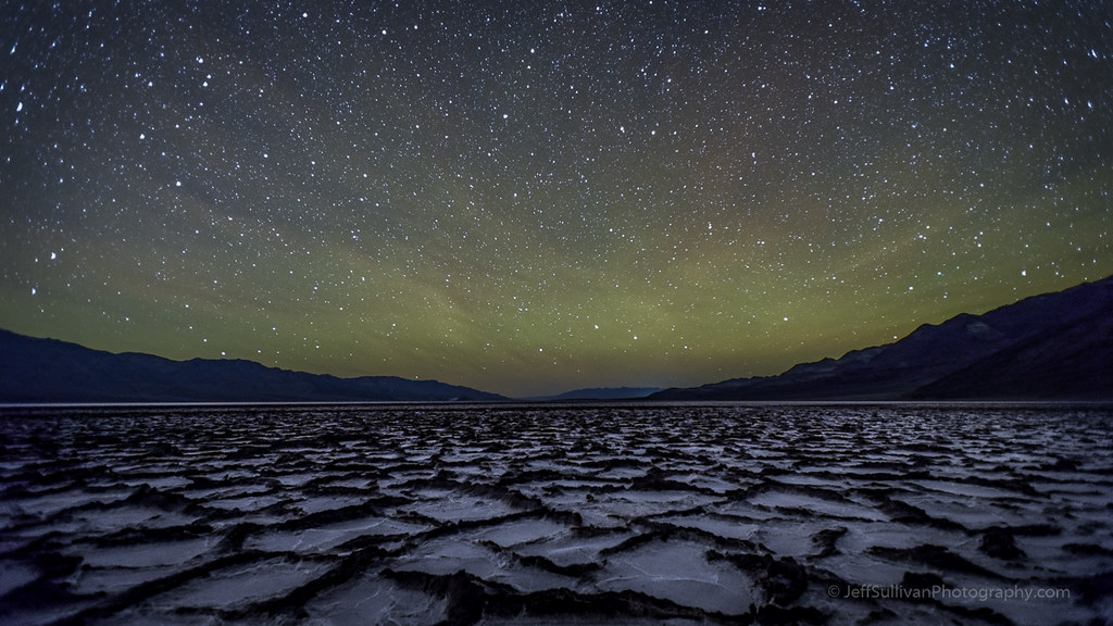 Airglow and Wispy Clouds Over Badwater Salt Flats