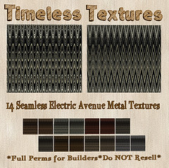 TT 14 Seamless Electric Avenue Metal Timeless Textures