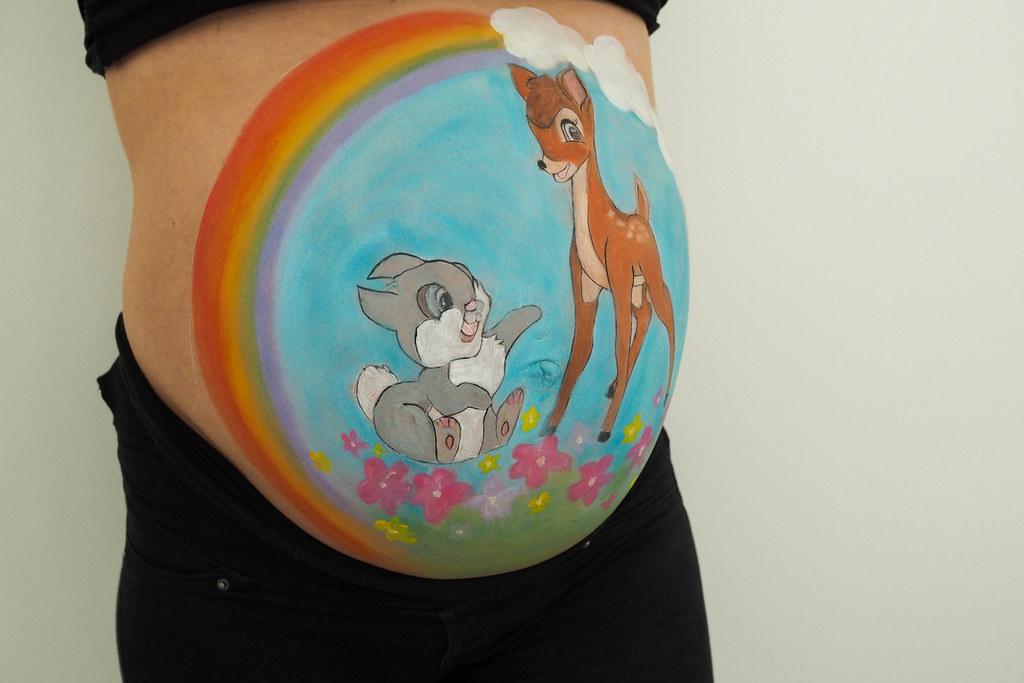raskausvatsan maalaus