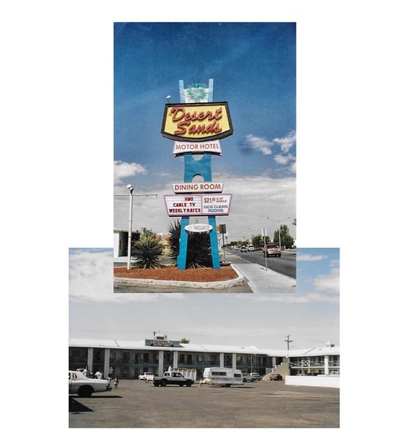 Albuquerque - New Mexico -  Built 1953  - Desert Sands Motor Inn - Demolished  - Route 66