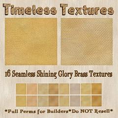 TT 16 Seamless Shining Glory Brass Timeless Textures