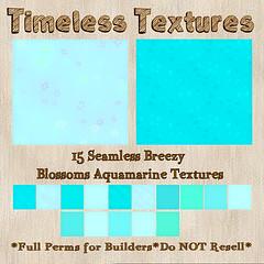TT 15 Seamless Breezy Blossoms Aquamarine Timeless Textures