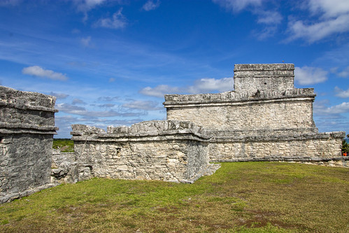 The Castle (El Castillo) of the Tulum ruins, Tulum, Mexico