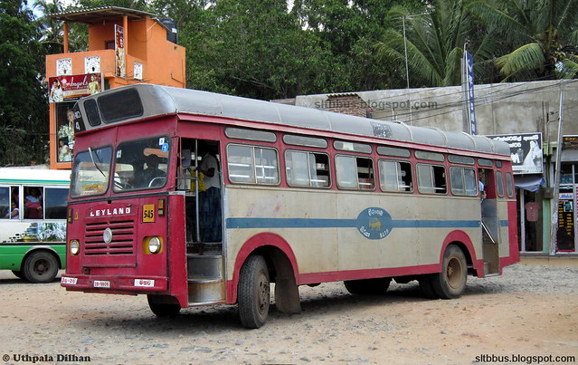 SLCTB bodied Ashok Leyland Viking bus from SLTB Maho depot