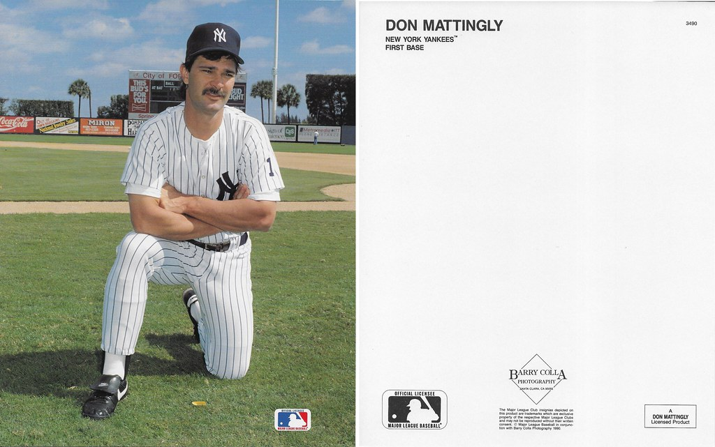 1990 Don Mattingly Barry Colla 8x10 3490