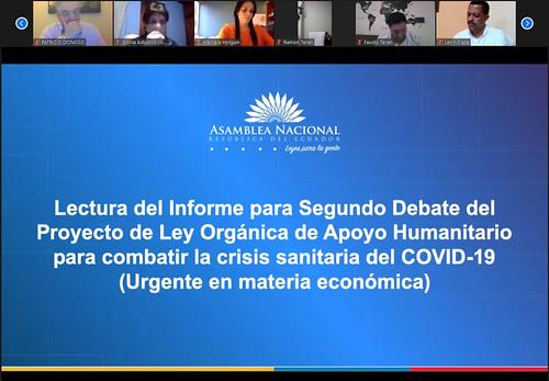 SESIÓN NO. 669 DEL PLENO DE LA ASAMBLEA NACIONAL (VIRTUAL). ECUADOR, 13 DE MAYO 2020