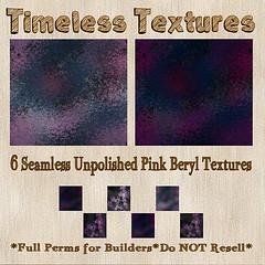 TT 6 Seamless Unpolished Pink Beryl Timeless Textures