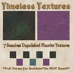 TT 7 Seamless Unpolished Fluorite Timeless Textures