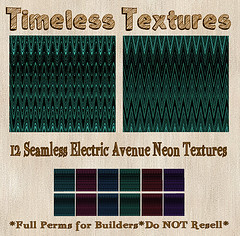 TT 12 Seamless Electric Avenue Neon Timeless Textures