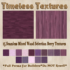 TT 15 Seamless Mixed Wood Selection Berry Timeless Textures