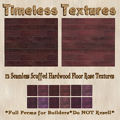 TT 12 Seamless Scuffed Hardwood Floor Rose Timeless Textures