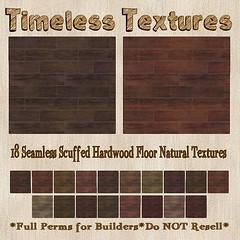 TT 18 Seamless Scuffed Hardwood Floor Natural Timeless Textures