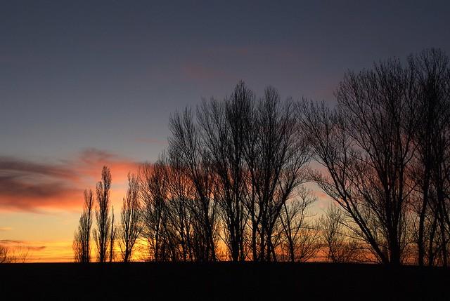 Puesta de sol en Rasueros (Ávila)