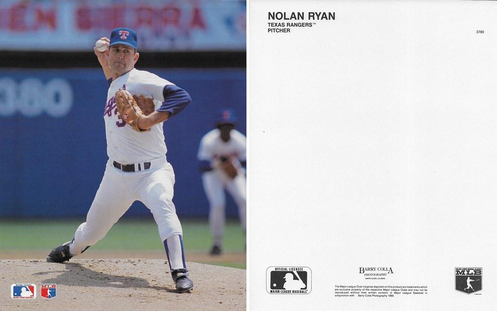 1989 Nolan Ryan Barry Colla 8x10 3789