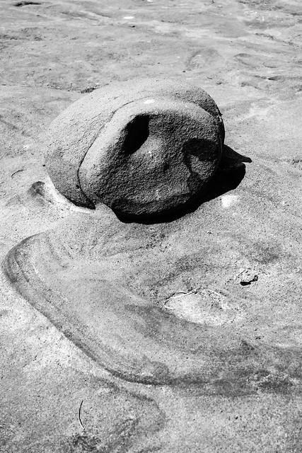 A rock with swirls