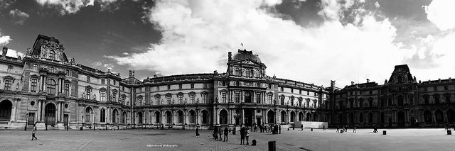 Louvre in panorama.