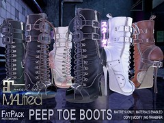 MALified - Peep Toe Boots - FatPack