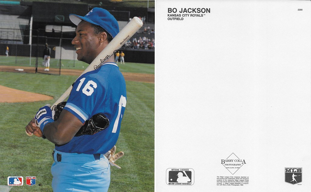 1990 Bo Jackson Barry Colla 8x10 2290