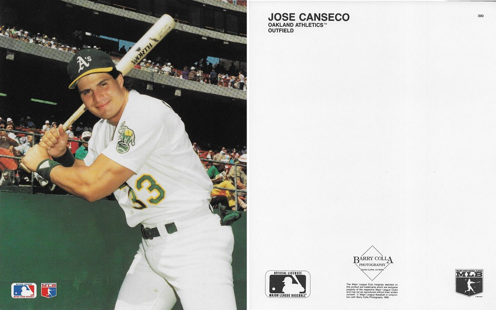 1990 Jose Canseco Barry Colla 8x10 390