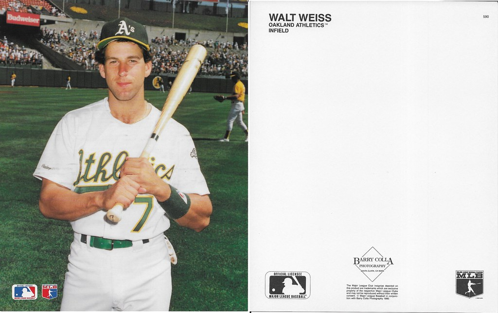 1990 Walt Weiss Barry Colla 8x10 590