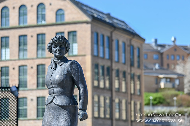 Statue of author Moa Martinson in Norrköping Sweden