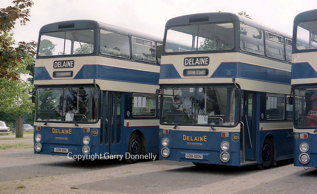 Delaine, Bourne (Ex Greater Manchester PTE) 102  GDB 181N + 101 GDB 180N