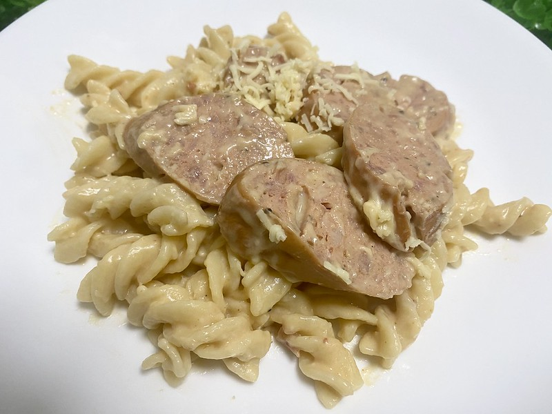 Sausage Pasta with Creamy Sundried Tomatoes