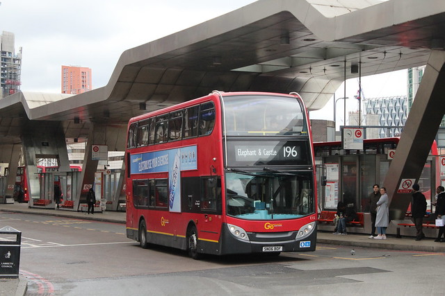 London General E15, SN06BOF - Route 196 | Vauxhall Bus Station