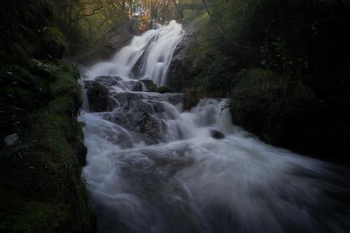cascada fervenza río bosque naturaleza landscape longexposure