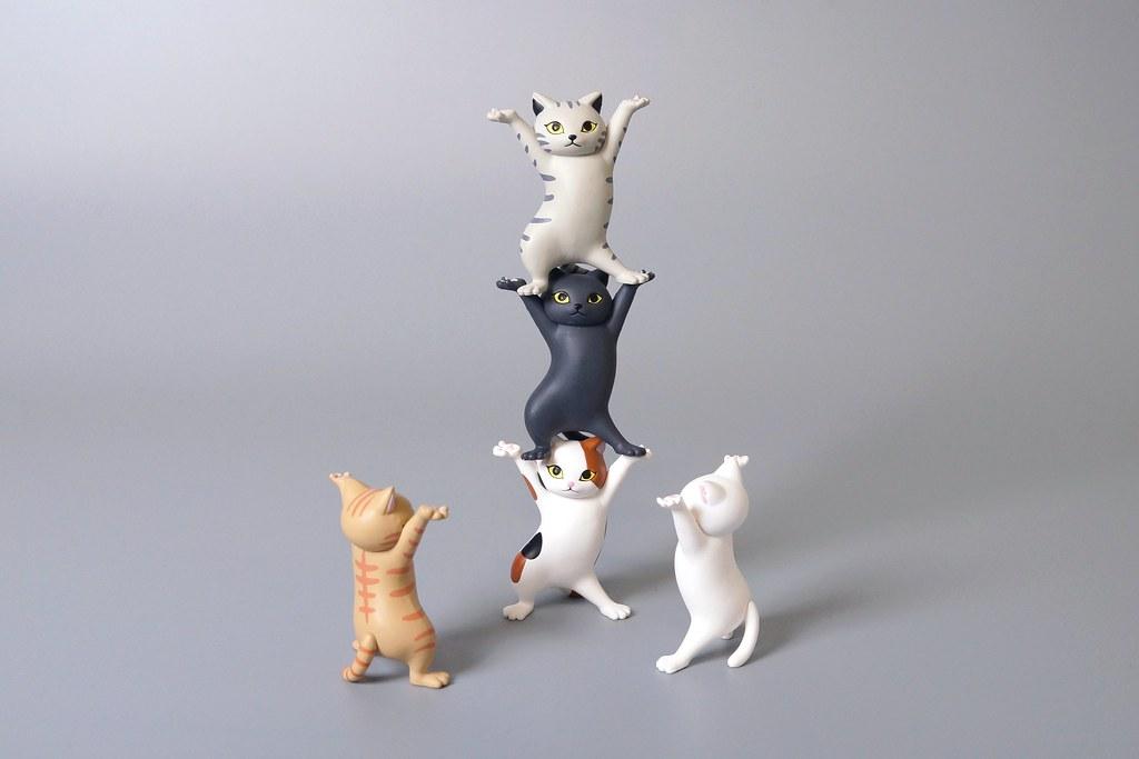 有事貓咪扛~Qualia 大好評「貓咪置筆架」轉蛋(ネコのペンおき)全五款【再販】