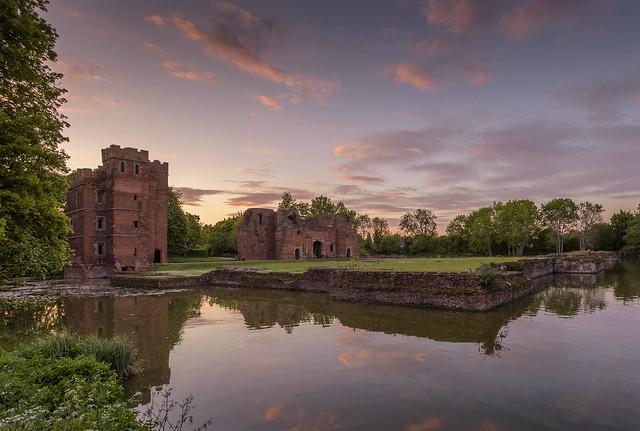 Sunset at Kirby Muxloe Castle