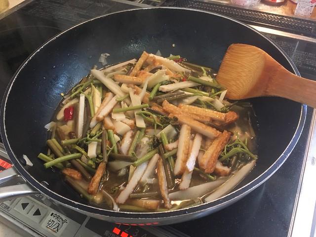 ワラビと竹の子の炒め煮
