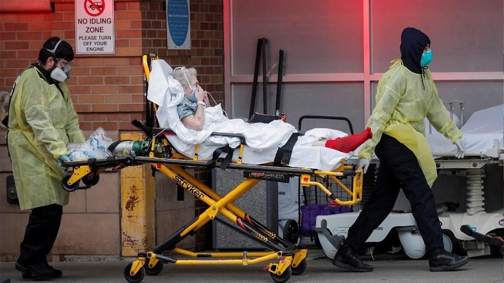 美國15日確診病例數達到140萬人,死亡數逾8萬人。(圖片來源:REUTERS/Brendan McDermid)