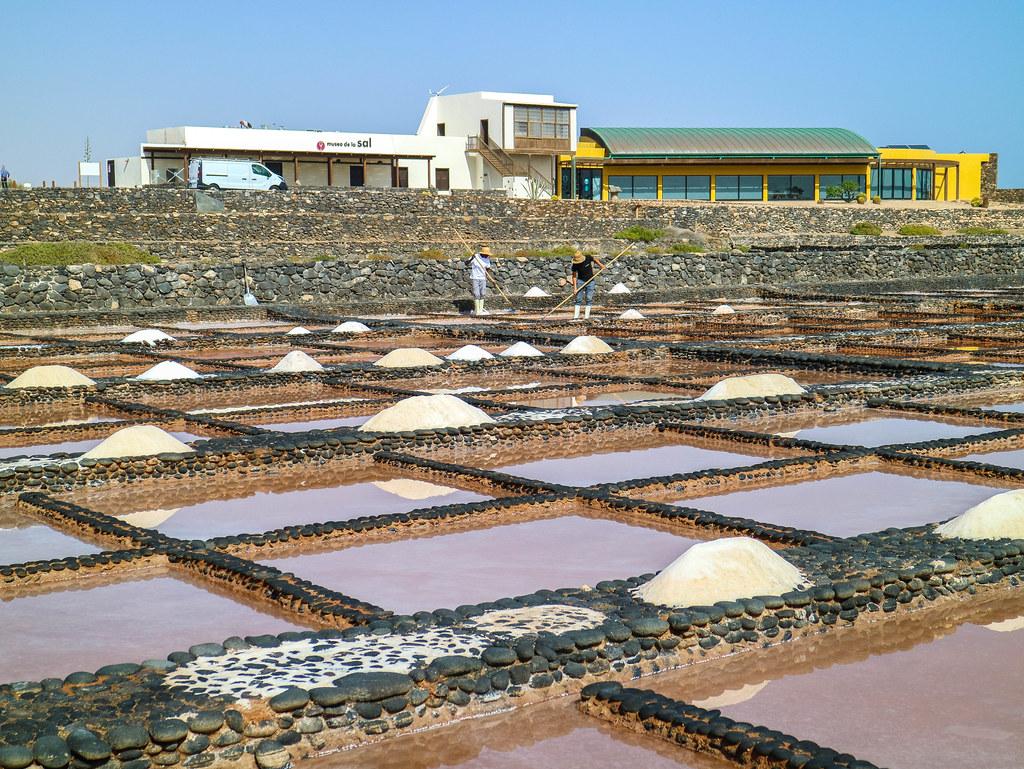 Vista de las Salinas del Carmen en Fuerteventura