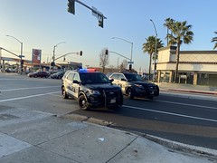 13' & 16' Inglewood PD On Scene Of Traffic Collision Investigation