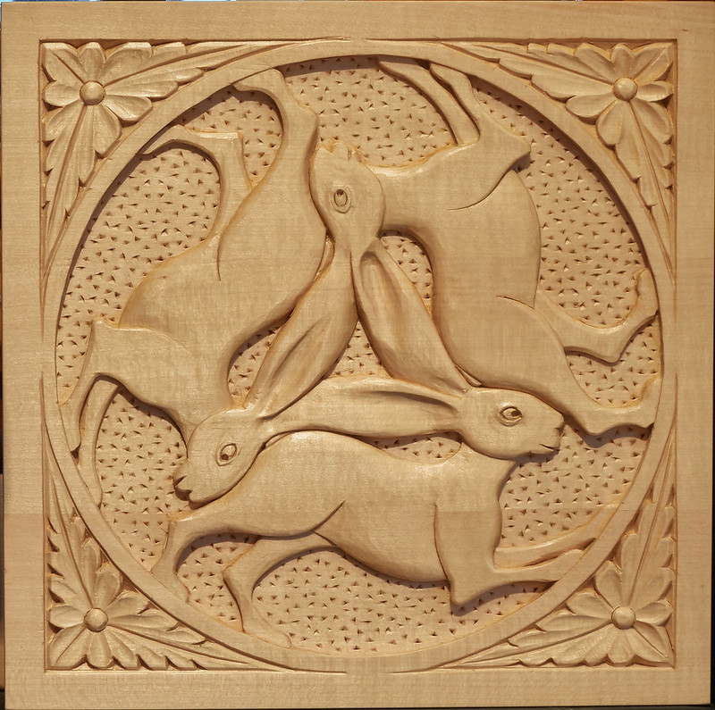 Three Hares Relief Carving