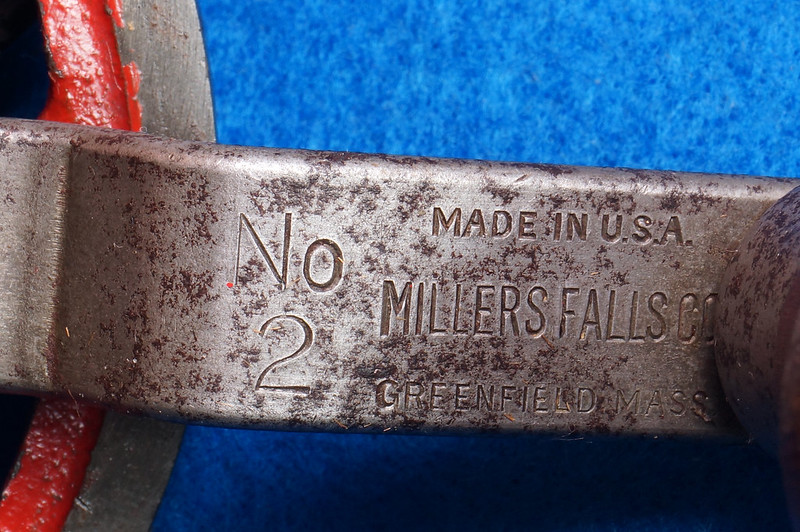 RD29024 Millers Falls No. 2 Vintage Woodworkers Egg Beater Hand Drill DSC04361