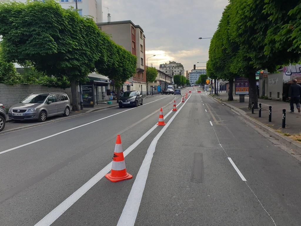 Nouvelle piste cyclable à Montreuil