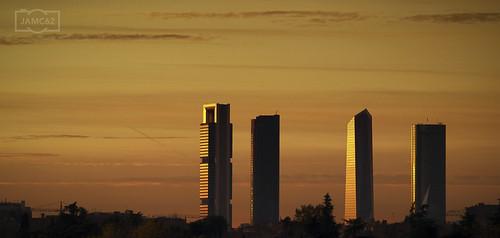spain españa madrid tower torre rascacielos skyscraper atardecer sunset ciudad city