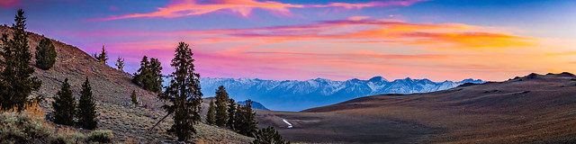Sunset Panorama Over The Owens Valley