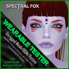 The Stringer Mausoleum - E - Spectral Fox Eyes - Wearable Tester
