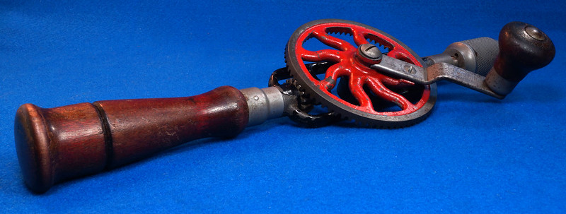 RD29024 Millers Falls No. 2 Vintage Woodworkers Egg Beater Hand Drill DSC04359