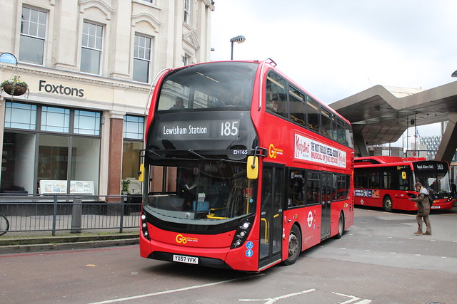 London Central EH165, YY67VFK - Route 185 | Vauxhall Bus Station