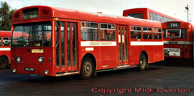 Aldenham lunchtime staffbus 1970 AEC Swift SMD93 AML93H makes a rare visit back to Edgware where it spent its first 6 years in service