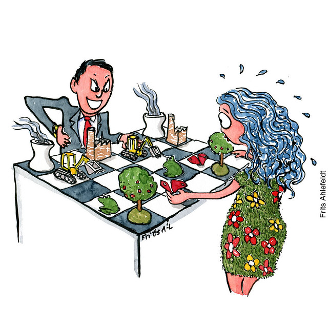 Di00015-business-vs-nature-chess-playing-no-game-illustration-by-frits-ahlefeldt