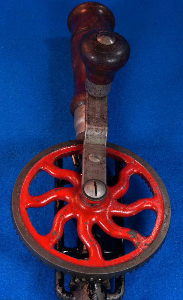 RD29024 Millers Falls No. 2 Vintage Woodworkers Egg Beater Hand Drill DSC04356